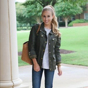 J. Crew Downtown Field Jacket in Olive Army Green
